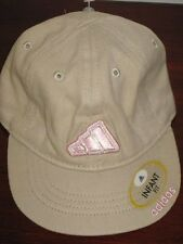 New Adidas khaki tan baseball hat cap girls Infant