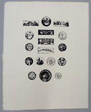 Edvard Munch 17 Vignetten zu Gustav Schiefler 1972 Strichätzung