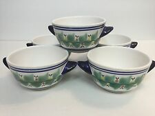 Mexican Pottery by Juan F. Guerrero Hand Painted Soup or Cereal Bowls Set of 6