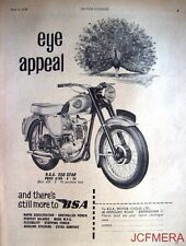 1959 Motor Cycle ADVERT - B.S.A. '250 Star' (£166-6s-3d) Print AD