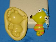 Sea Horse 2D Push Mold Food Safe Silicone Cake Topper A174 Chocolate Resin Candy