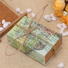 50X Retro World Map Drawer Wedding Favours Candy Sweets Party Gift Boxes Bags