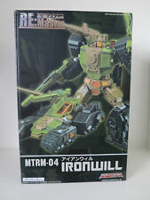 Transformers Maketoys MT RM-04 Iron Will / MP HARDHEAD box slightly dented MISB
