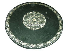 """30"""" Black Marble Coffee Table Top Decoration Art Mother of Pearl Home Gift H3041"""