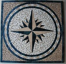 "30"" Marble Tile Mosaic  Medallion Design Stone Flooring or wall piece  #10a"