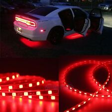 Red Car Body Glow Neon LED Lighting Undercar Underbody Strips For Chevrolet
