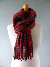 Royal Stewart tartan pashmina, red tartan blanket scarf red plaid shawl, wrap