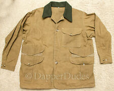 New! FILSON Tin Cloth Field Artillery Jacket-Men 42-Wool Collar-Hunting-$450+