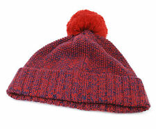 Eleven Paris Men`s Warm Winter Crak Hat Brick Navy Size S Pom Pom BNWT Soft New