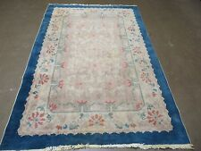 4' X 6' Vintage Hand Made Chinese Art Deco Nichols Wool Rug Carpet