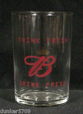 CLEAR GLASS BUDWEISER SHOT GLASS 3 1/2 INCHES TALL