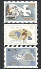 Senegal 1985 Pigeon / RADIO Tower / Lettere / Comunicazione / mappe 3V Set (n35901)