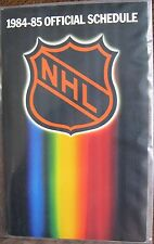 1984-85 Official Schedule of the National Hockey League