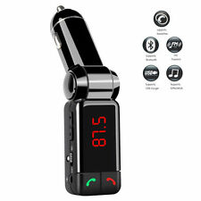 Car Dual USB Red LED Backlit FM Transmitter MP3 Bluetooth Handfree On/Off Switch