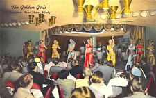 "Reno NV The Golden Casino ""The Golden Girls"" Floor Show Postcard"