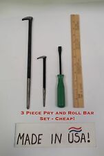 3 Piece Mini Pry and Roll Bar Set - Cheap!