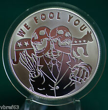 "2015 Silver Shield ""WE FOOL YOU"" -  99.9% silver PROOF -#9 Pyramid of Power"