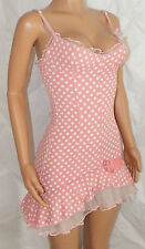 WHEELS & DOLLBABY pink polkadot mini ballerina tutu rara net fitted dress 6 8 10