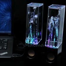 Black LED Dancing Water Show Music Fountain Light Speakers for Computer Laptop