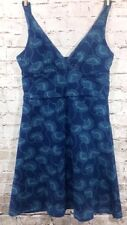 Patagonia Margot Blue Floral Dress Sz XS Small Organic Cotton V-Neck Sleeveless