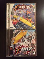 Crazy Taxi 1 & 2 Game Lot Sega Dreamcast