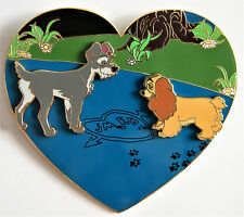 LADY AND THE TRAMP DOGS LOVE IS GREATEST POWER 3.5 in HEART FANTASY PIN LE 40