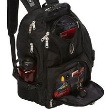 "NEW SWISS GEAR ScanSmart Backpack Hiking Black 17"" Laptop Computer Notebook"