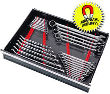 "ERNST 6014M RED 40 Tool ""Space Saver"" Wrench Organizer Rail  Kit w/ Magnet Mount"