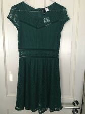 H&M Green Cut Out Dress Size 10