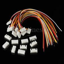 10Pcs 5S1P Balance Charger Silicon Cable Wire JST XH Connector Male+Female Plug
