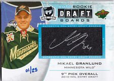 2013-14 UD THE CUP MIKAEL GRANLUND 1/25 AUTO ROOKIE DRAFT BOARDS #DB-MG