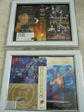 Michael fatleys Fleet of flames & Lord of dance Double Cover Vhs sleeves Framed