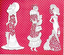 NEW TATTERED LACE ELIZA ,FLORENCE & MARY VINTAGE LADY DIE CUTS -CHRISTMAS/GIRL