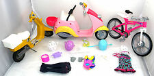 SUPER LOT OF BARBIE DOLLS MIX BICYCLE BIKE  + ACCESSORIES +++