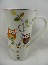 Enchanted Woods Porcelain Coffee Latte 16 oz Cup Mug Owls Paris 222 Fifth New