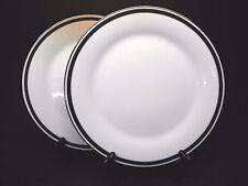 """Noritake Horizon #281 Black Greek Key (Set of 2) 10 1/2"""" Dinner Plates"""