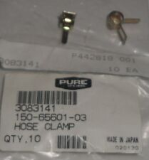 POLARIS OEM NOS PURE ATV SNOWMOBILE BRASS HOSE CLAMP SET OF TWO (2) 3083141