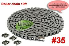 CHAIN ASSY, ROLLER, #35 ,GO KARTS, SCOOTERS, 10', 5 CONNECTING LINKS, NEW