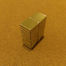 20 N45 Neodymium 1/2 x 1/2 x 1/8 inches Block/Bar Magnet.