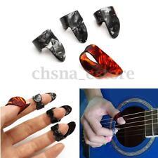 4 Celuloide Dedo Uñas Pulgar Guitarra Eléctrica Acústica Púa Guitar Finger Picks