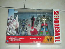 Transformers Movie 4 MV4 Silver knight Optimus and grimlock twinpack MIB r:57