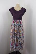 NWT Size L / 14 SADIE Ladies Maxi Dress Floral Lace Casual Boho Chic Long Design