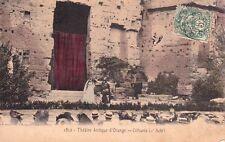 ORANGE 1812 théâtre antique citharis 1er acte photo couleur lacour timbrée