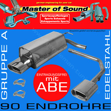 MASTER OF SOUND GR.A DUPLEX AUSPUFF V2A VW GOLF 3 VARIANT