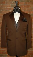 MENS 40 S JEAN YVES CHOCOLATE BROWN PARISIAN 2 BUTTON TUXEDO JACKET and PANTS