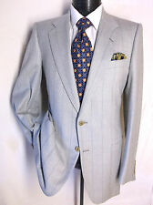 Lanvin Light Gray Striped 2 Button  Sport Jacket Size 40 L Made in Italy