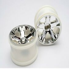 "Traxxas 5576 Rear All-Star 2.8"" Chrome Wheels (2) Nitro Jato"