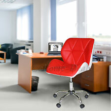 New Swivel Tilt Office Furniture Computer Desk Chair in PU Leather Padded Seat