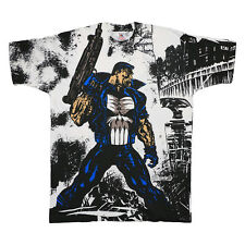 Punisher Shirt Vintage tshirt 1993 Marvel Frank Castle All Over Print tee 1990s