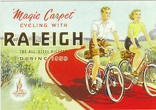 ROBERT  OPIE  ADVERTISING  POSTCARD  -  RALEIGH  BICYCLES